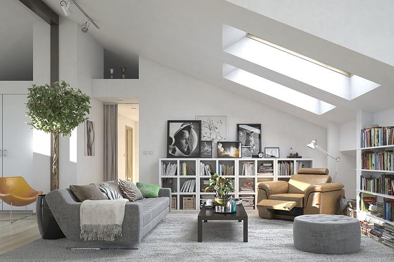 Servizi di rendering - Render di interni soggiorno moderno