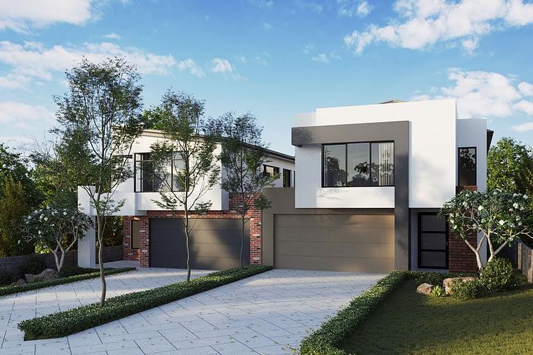 Rendering per l'architettura, villa moderna